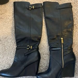 Coach Knee High Leather Boots